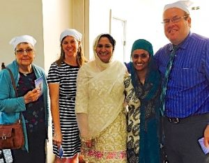 Hopers visit our Sikh friends at their Gurdwara.