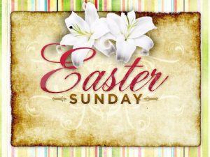 Easter Sunday service - April 21, 10am.