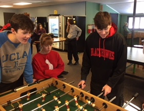 Lighthouse at Timberlee.  Broomball and Foosball fun!