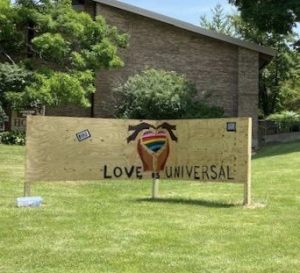 All are invited to leave your message of support for our Black brothers & sisters on Hope's Solidarity Wall. Markers and tape are provided in a container at the base of the sign.